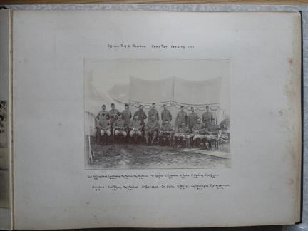 Officers RGA Roorkee Camp Pur. January 1901