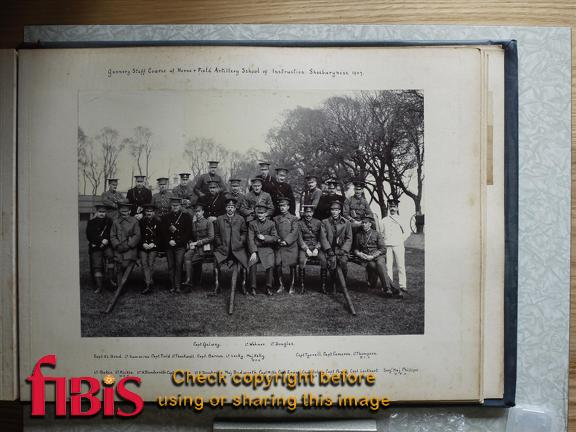 Gunnery Staff Course at Horse & Field Artillery School of Instruction, Shoeburyness 1907