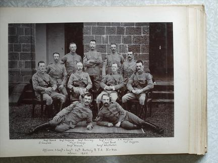 Officers, Staff Sergts & Sergts 29th Battery RFA Kirkee October 1900