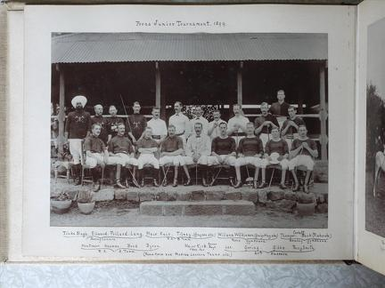 Poona Junior Tournament 1899. Poona Horse and Madras Lancers Teams absent