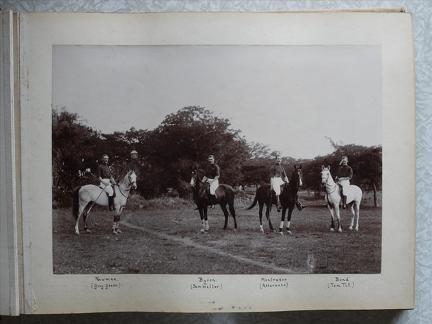 Winning Team Polo Poona Junior Tournament 1899 R.A. Kirkee