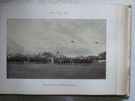 Bombay 1897. Musical ride 2nd Bombay Lancers
