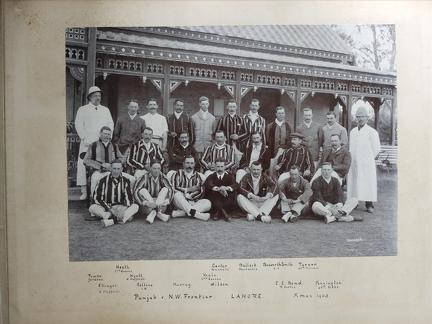 Punjab v N.W. Frontier Lahore, Christmas 1903