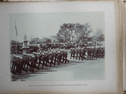 Royal Sussex marching past General Woodhouse commanding Northern Army