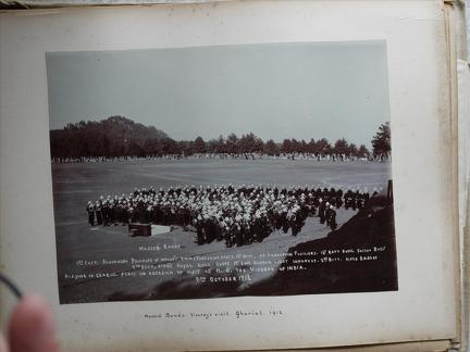 """Massed Bands, Viceroy's Visit Gharial 1912"""