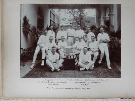 Royal Sussex Winners. Jamsetgee Cricket Cup 1910