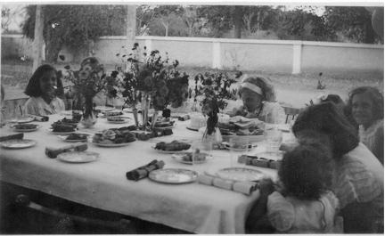 Children at a table