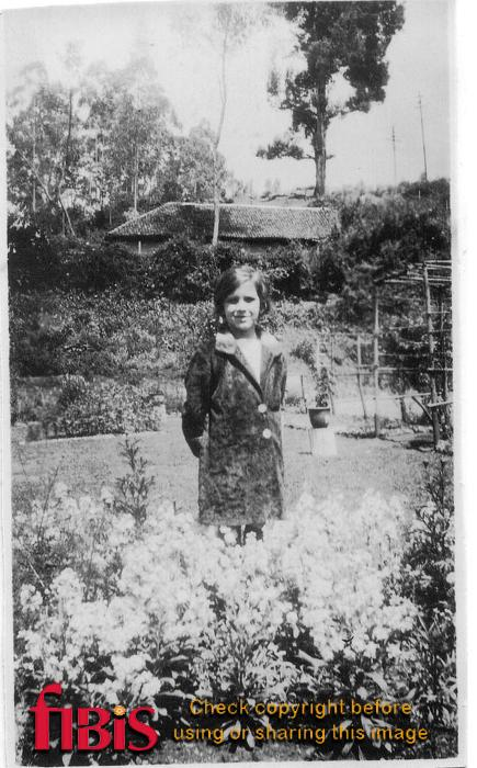 Young lady in a garden