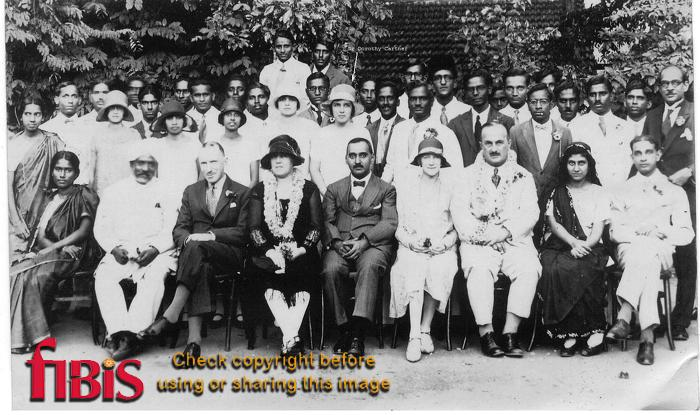 Dr Dorothy Cartner with group of people