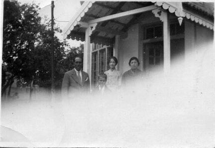 Unknown people outside house