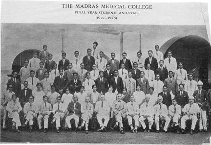 Madras Medical College Final Year Students 1927-1928