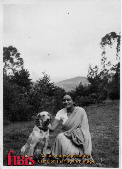 Indian lady with a dog