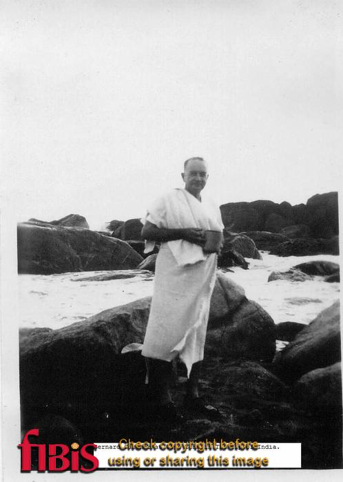 Bernard Cartner at Cape Comorin