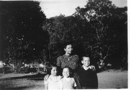Woman and three children