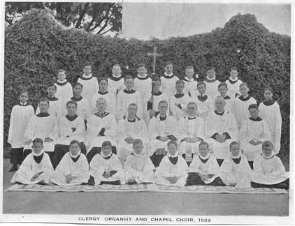 Clergy, Organists and Chapel Choir 1939