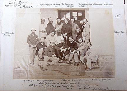 Officers of Berar Commission c1868