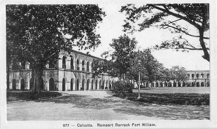 Calcutta Fort William Rampart Barrack