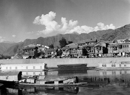 View across canal near Dal Gate, Srinagar