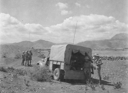 Signal Section Truck near Jamrud on Exercise