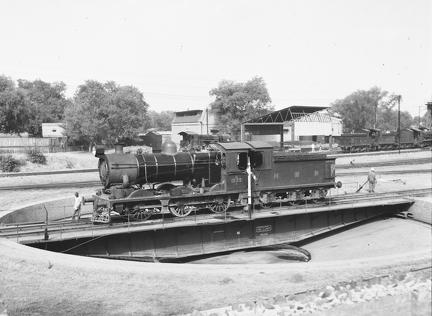 NWR 1233 0-6-0 at Rawalpindi 2 (on Turntable)