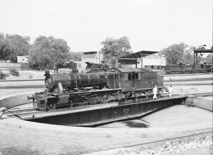 NWR 2570 2-8-0 at Rawalpindi (on Turntable)