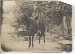 John Richard William Lee Skinner on horseback