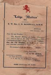 Madras summons 1925