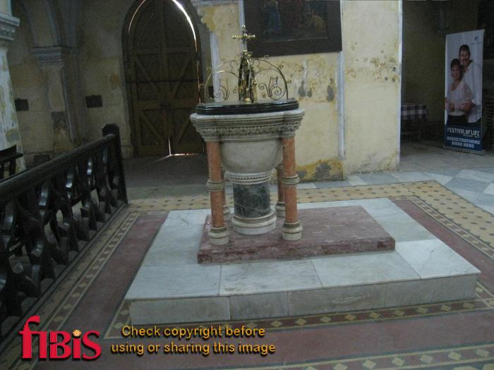 Font at St James church, Calcutta