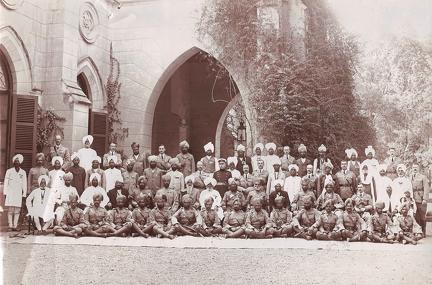 Visit of Major General Fasken to Peshawar 1912 with 52nd Sikhs