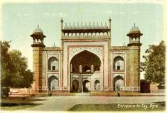 Entrance to the Taj Agra