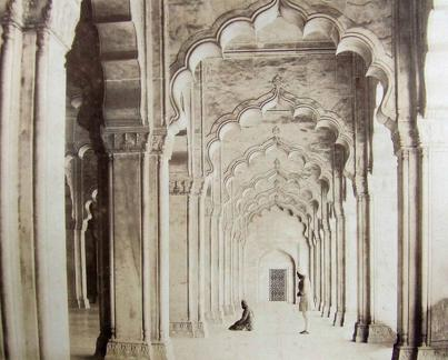 Interior of Pearl Mosque Agra Used as a hospital during mutiny