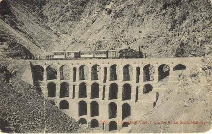 Highest Viaduct on Kalka Simla Railway