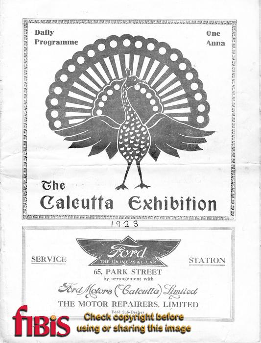 Calcutta Exhibition Programme - Cover