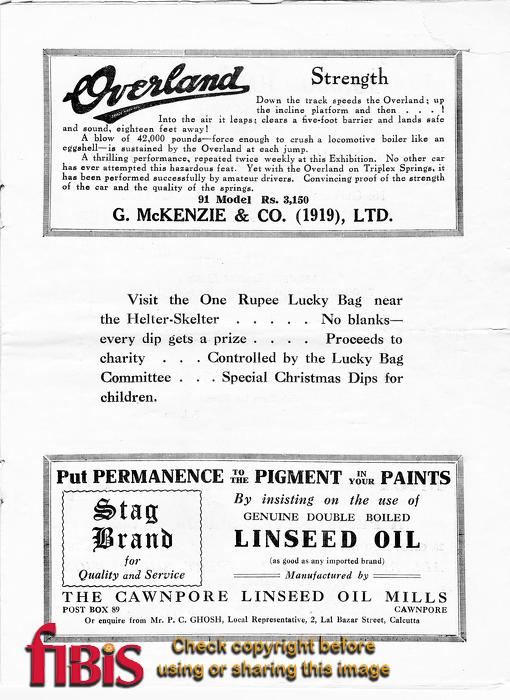 Calcutta Exhibition Programme - Page 11