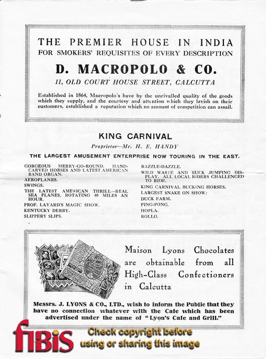 Calcutta Exhibition Programme - Page 13