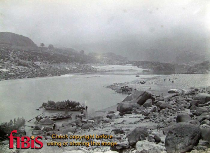 Crossing the Indus at Marer Blk Mtn Exp 1891