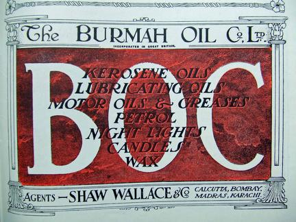 Burmah Oil Co Advertisement 1918