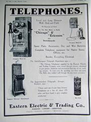 Eastern Electric & Trading Co Advertisement 1918