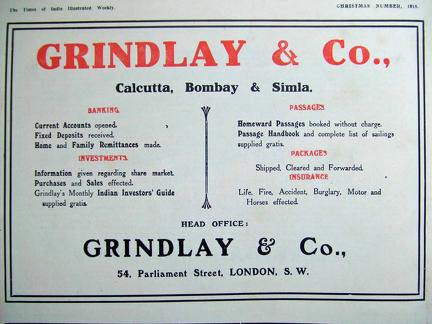 Grindlay & Co Advertisement 1918