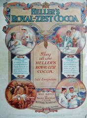 Hellers Royal Zest Cocoa Advertisement 1918