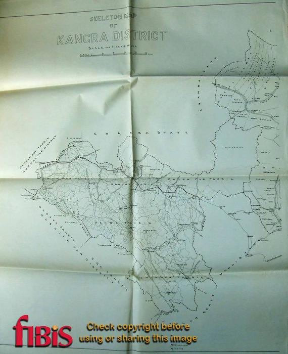 Kangra District Map India 1924