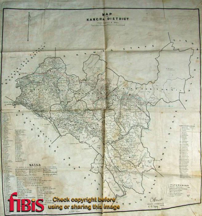 Map of Kangra District 1919