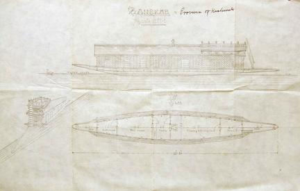 Plan for Houseboat, Kashmir ca 1910