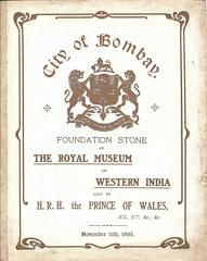 Royal Museum of Western India, Bombay 1905