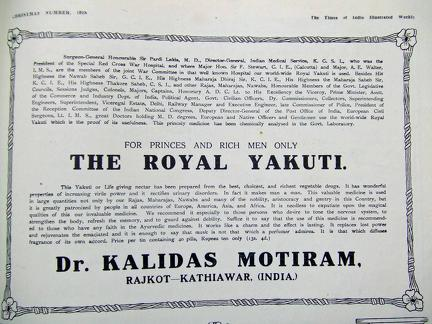 The Royal Yakutl Advertisement 1918