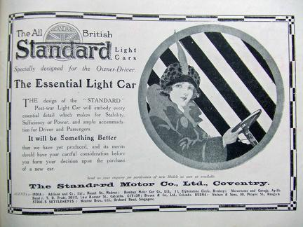 The Standard Motor Co Ltd Advertisement 1918