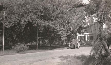 Armoured cars outside gym, Lahore 1936
