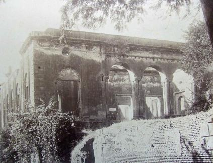 Dr Fayrer's House residency Lucknow showing room where Sir Henry Lawrence died