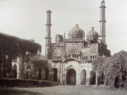 Mosque used as commissariat house in residency Lucknow during the siege