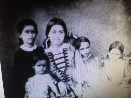 Amelia Anne Horne, with siblings